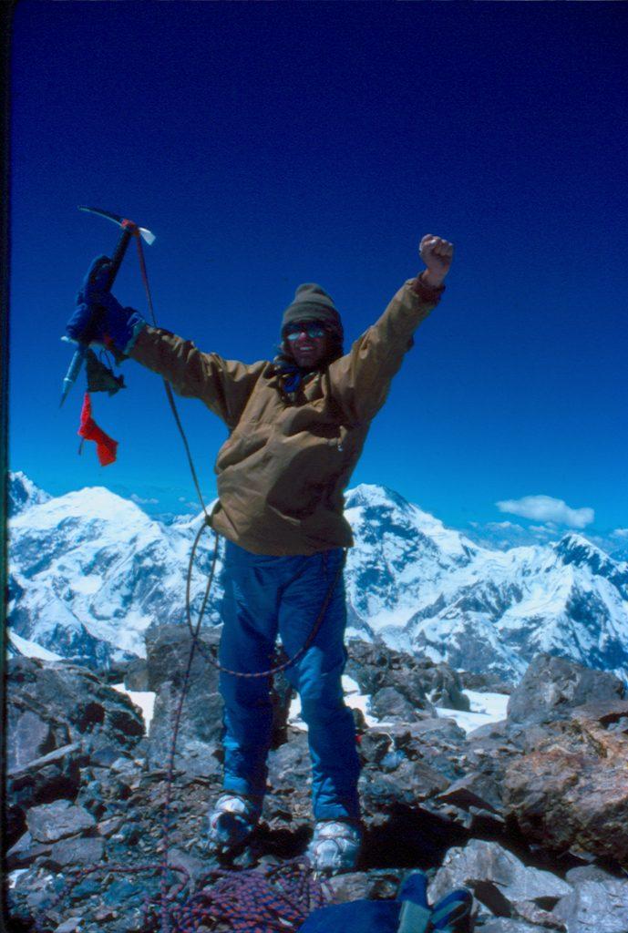 Javier pastor en la cima del Monte Shakhaur, 25 de Julio de 1976.